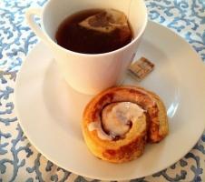 Cinnamon rolls and TAZO Chai...
