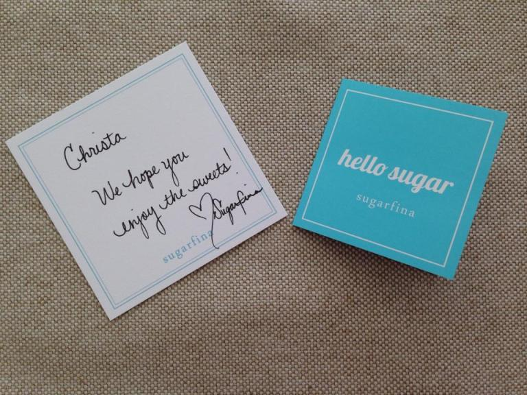 Love the handwritten note. It really gave the candies a personal touch!